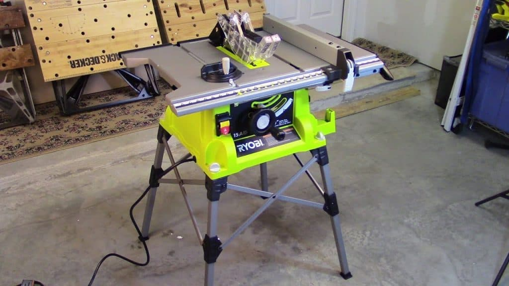 Ryobi Table Saw with Steel Stand