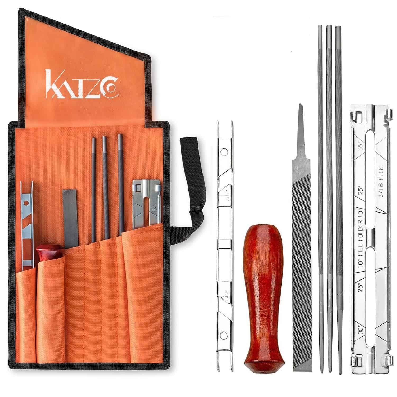 Katzco 8 Piece Chainsaw Sharpener File Kit