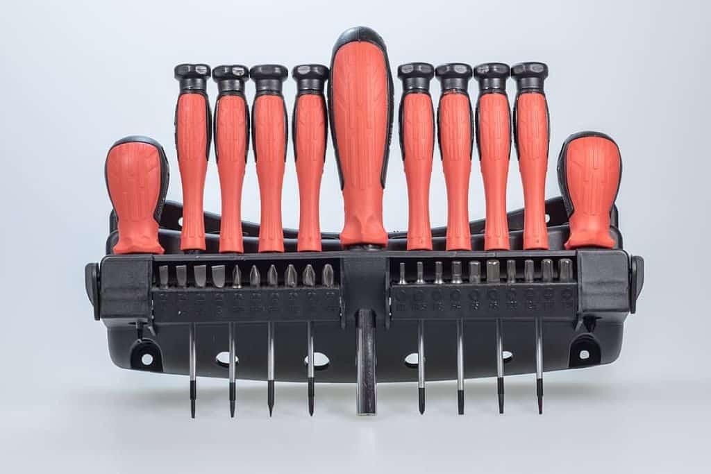 red precision screwdriver set