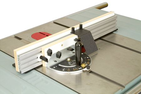 table saw with mitre gauge