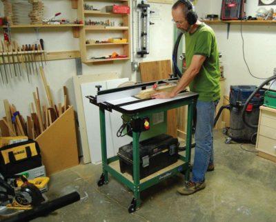 Man doing wood work