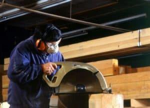 Man wearing a Respiratory Dust Mask Timber_Framing