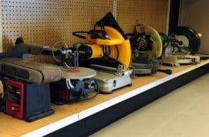 sander tools workshop display