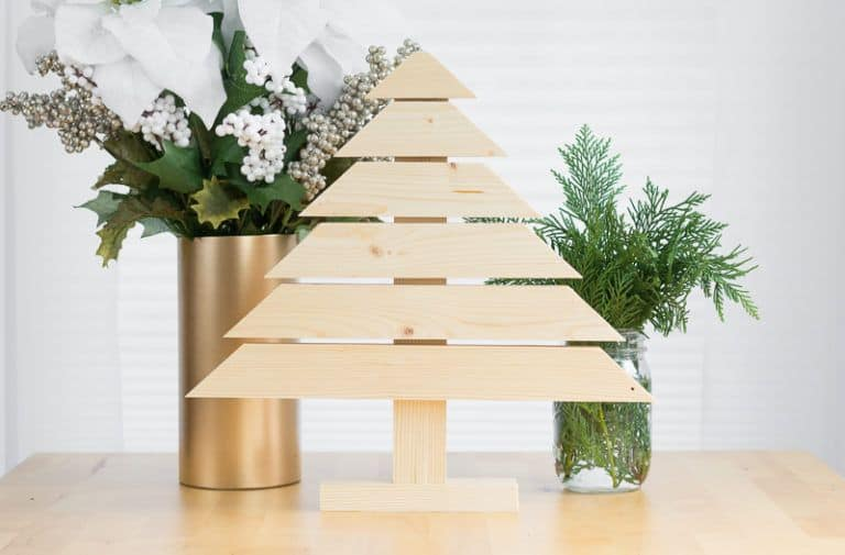 table top flat christmas tree