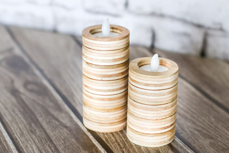 plywood candle holder