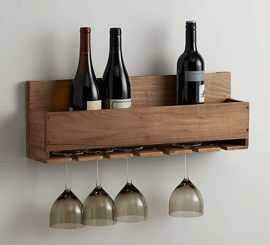 diy wine and stemware rack